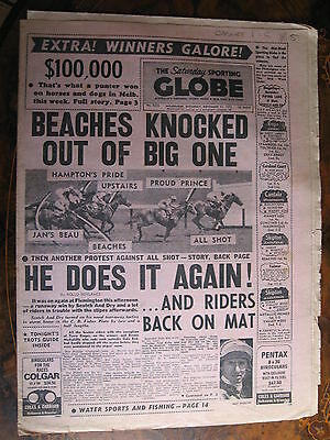 Sporting Globe NOV 11 1972 Scotch & Dry Flemington All Shot