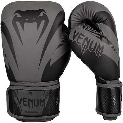 Venum Impact Muay Thai Boxing Gloves Sparring MMA Kickboxing Grey Black