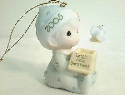 "2005 ""PRECIOUS MOMENTS ~ Babys First Christmas ~ BOY ORNAMENT"