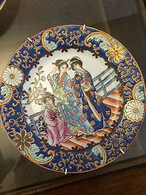 Pair of Antique/Old Chinese Porcelain Hand Painted Picture Plates, numbered