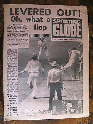 Sporting Globe    FEB 8 1975  Peter Lever