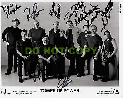 REPRINT RP 8x10 Signed Autographed Photo Picture:Tower of Power R & B Band
