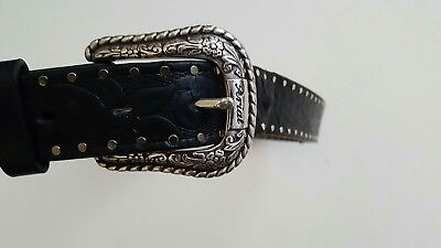 Ariat Western Belt Womens Leather Work Embossed Black A10004672 Size 34