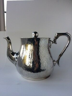 Arts and Crafts Victorian William Hutton And Sons Silver Plated Teapot
