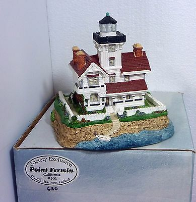 Harbour Lights Point Fermin Lighthouse, org. box, No COA