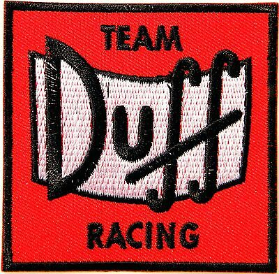 Duff Racing Team The Simpson Patch Iron on Embroidered Jacket T shirt Cap Logo