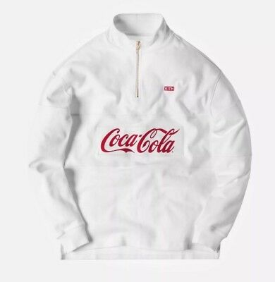 Kith X Coca-Cola Half Zip Rugby White Size M In Hand Read To Ship Coke