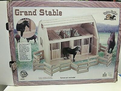 LARGE 29x22x21 Groton Stables Maxim Wood Horse Stall Grande Stable Ranch Corral