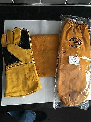 Leather Welders Apron / Gauntlets and Sleeves