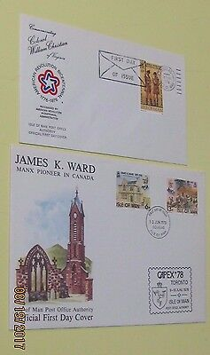Isle of Man Four Unaddressed First day Covers