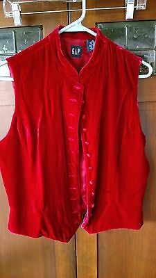 Choice Vintage Silk Velvet red sleeveless vest theater theatrical stage play M