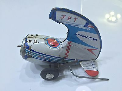 Vintage & Antique Tin Toy Jet Acrobat Plane No.1 Made in Japan