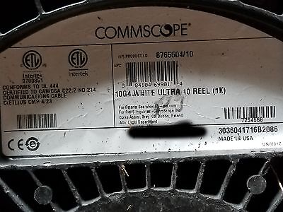 Commscope 874010204/10 10G4 Ultra 10 Cat6A U/UTP Plenum Network Cable Wht /100ft