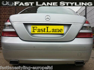 Mercedes S-Class Custom Build Stainless Steel Exhaust Cat Back Dual System MS03