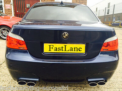 BMW 5 Custom Build Stainless Steel Exhaust Rear Dual System