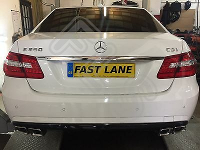 Mercedes-Benz E Class W212 Stainless Steel Custom Back End Dual Exhaust System
