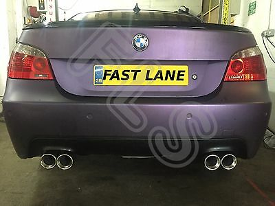 Bmw E60 5 Series Stainless Steel Custom Built Cat Back Dual Exhaust System