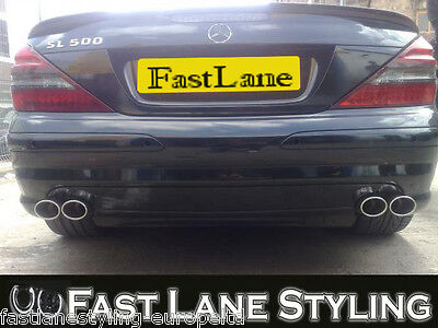 Mercedes SL Custom Fitted Stainless Steel Exhaust Cat Back Dual System MSL2