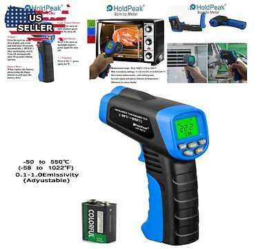 Thermometer Infrared Digital Temp Meter Non Contact IR Laser LCD Temperature Gun