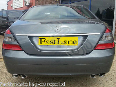 Mercedes S-Class Custom Fitted Stainless Steel Exhaust Rear Dual System MS04