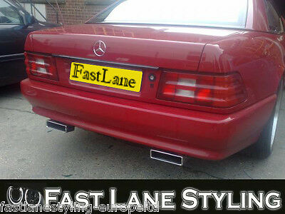 Mercedes Benz SL Custom Built Stainless Steel Exhaust Cat Back Dual System