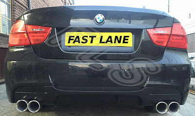 BMW 3 SERIES E90 Cat Back End Dual Stainless Steel Full Exhaust System (M3, 335)