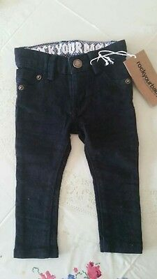 rock your baby black jeans size 0