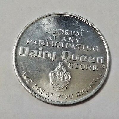 Vintage Aluminum Free Dairy Queen Sundae Advertising Token Coin