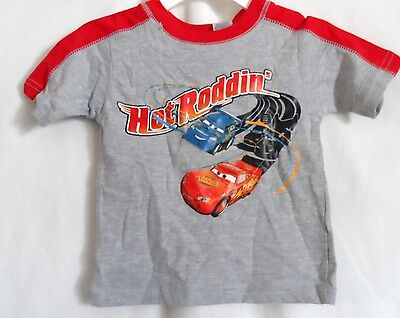 Boys 12 Month Gray Lightning Mcqueen Hot Roddin Cars Disney Shirt Nwt Disney