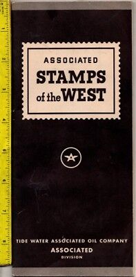 Vintage Tide Water Associated Oil Company Stamps Of The West Book Complete