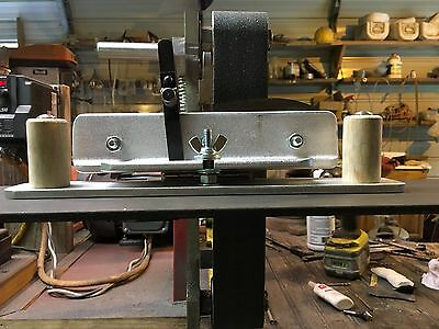 Flat ground jig for 2 x 72 belt grinder and knife makers with adjustable angle.