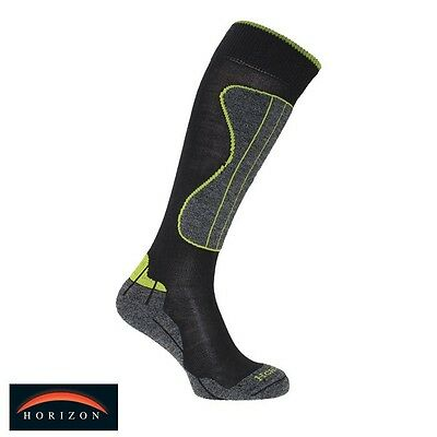 Horizon Powder Merino Technical Sock Mens EU 40-43 US 7-10 UK 6-9 Grey/Green NEW