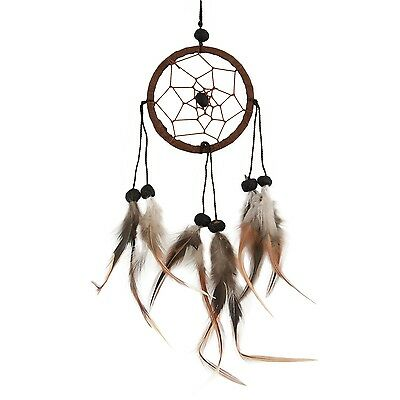 "Traumfänger - Dreamcatcher ""Happy Dreams"" Ø 6 cm braun"