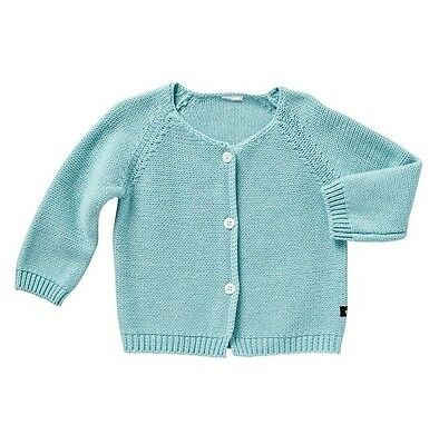 * BONDS * Sz 00 baby boy/girl aqua mint thick cotton winter cardigan! NWT $29.95