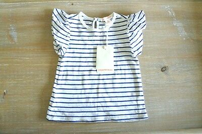 * COUNTRY ROAD * Sz 0 baby girl flutter sl blue stripe nautical t-shirt top! NWT
