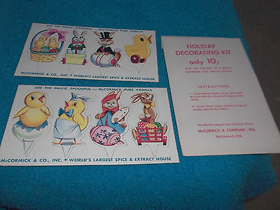 McCORMICK SPICES & COMPANY HOILDAY DECORATING KIT RABBITS BALTIMORE 2,MD.