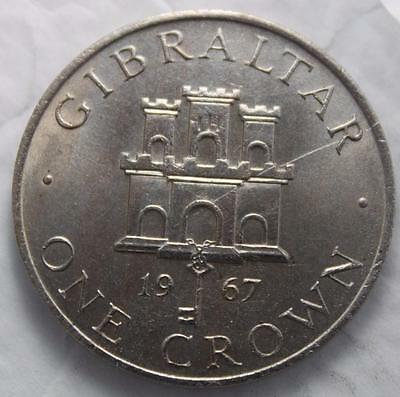 Gibraltar 1967 Crown, Brilliant Uncirculated