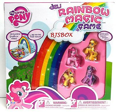 My Little Pony Rainbow Magic Game with 4 Ponies Figures and Player Board New Toy