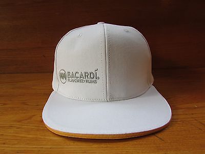 Bacardi Flavored Rum Cap Hat White Snap Back NEW
