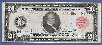 """1914 $20  Frn  """" Red-Seal""""   ♚♚ Richmond ♚♚   17 Known   Very Rare!!!"""