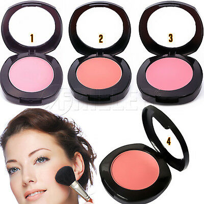 Cosmetic Blush with Brush New Pro Makeup Beauty Face Powder Long-wearing Silky