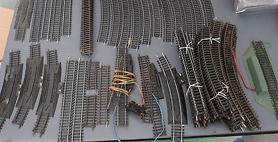 70 pieces of OO Model Railway Track Hornby , Tyco and Lifelike . 2 Points