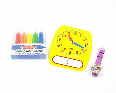 Watch for Girls Teach Me Time Teaching Clocks Doc McStuffins 5 Write-On Crayons,