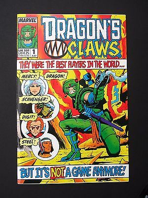 Dragon's Claws #1, #2 1988 Lot of 2 VF/NM High Grade Marvel UK Books
