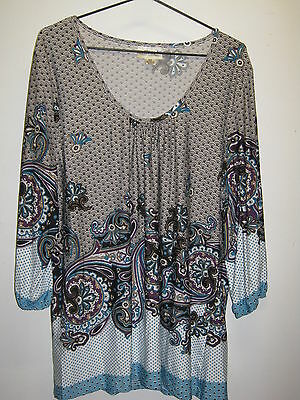 Millers Size 20 3/4 Sleeve Abstract Pattern Ladies Top
