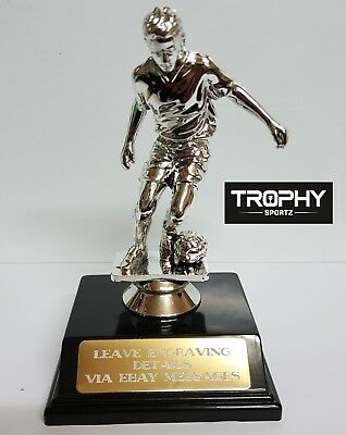 1 X SOCCER, MALE, TROPHY,MEDAL135mm High, FREE ENGRAVING