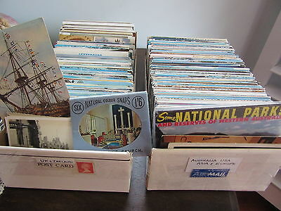 VINTAGE POSTCARDS over 1000 mixed lot travel tourist