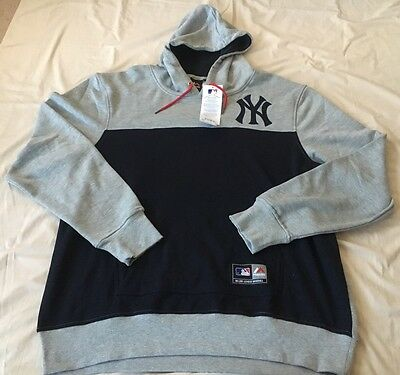 New York Yankees Mlb Grey And Blue Mens Supporters Hoodie Size Xxl Bnwt