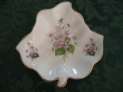 Vintage Queen Anne Sweet Violets Pin Dish