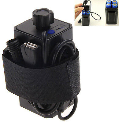 Hot 8.4V 4x 18650 Waterproof Battery Pack Case House Cover For Bicycle Bike Lamp